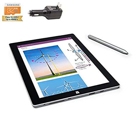 Microsoft Surface 3 Bundle - 4 Items: 4 GB 64GB Wi-Fi Only Quard-Core 10.8-Inch Tablet Windows 10 Pro, Original Pen, Silicon Power 32GB Elite microSDHC Card and 2-in-1 Travel (Microsoft Surface Pro 2 32)