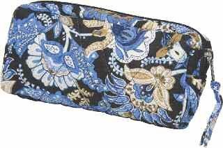 Kingsley Small Blue Paisley Travel/Cosmetic Bag, Bags Central