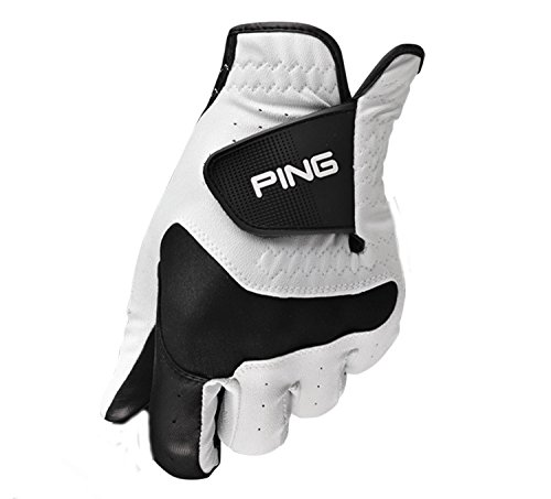 (PING Sport White/Black Allsoft Cabretta Leather Golf Glove Mens Large)