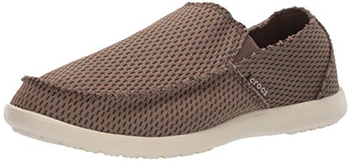 Crocs Men's Santa Cruz Mesh Slip-On Loafer Walnut 8 M US