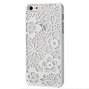 RC - The Color Carving Flower Case for iPhone 5/5S , Green