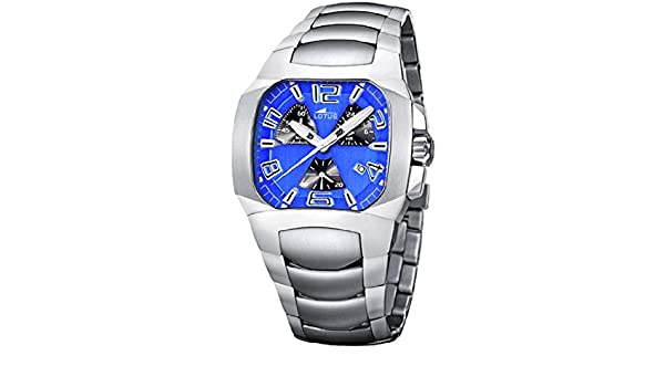 Amazon.com: Lotus Chronograph Mens Analog Quartz Watch with Stainless Steel Bracelet 15501/5: Watches