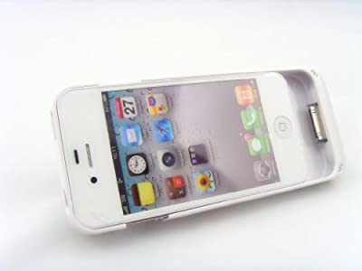 Jk White Protective Case & Extended Battery & External Power Bank for Iphone 4 4s (Fits All Models Iphone 4s /4) by JK GLOBAL TRADING LLC
