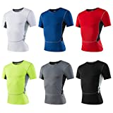 Maoko Men's Sport Compression Short-Sleeve Athletic Shirts Baselayer