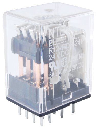 NTE Electronics R14-11D10-12P Series R14 General Purpose DC Relay, DPDT Contact Arrangement, 10 Amp, 12 VDC, PC Board Mount