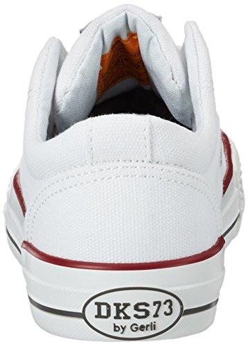 Dockers by Gerli 38ay613-710500, Sneakers Basses Mixte Enfant Blanc (Weiss 500)