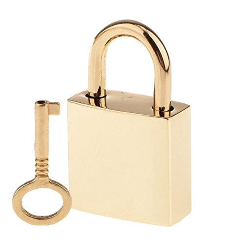 - Sky Fish Padlock Luggage Padlock Vintage Padlock Alloy Padlock Mini Padlock Suitable for luggage or handbags plus key light gold color