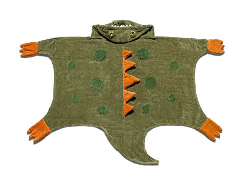 Kidorable Boys' Dinosaur Towel, Army Green, Medium