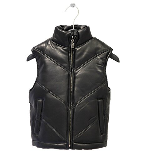 kids-genuine-lambskin-leather-chevron-bubble-vest-boys-girls