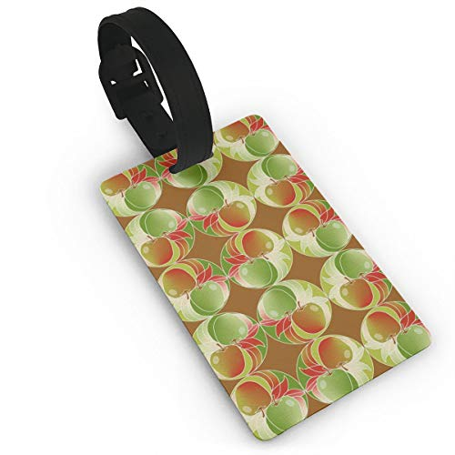 Green Apple PVC Luggage Tags Suitcase Labels Bag Travel Accessories With Leather-like Plastics Strap