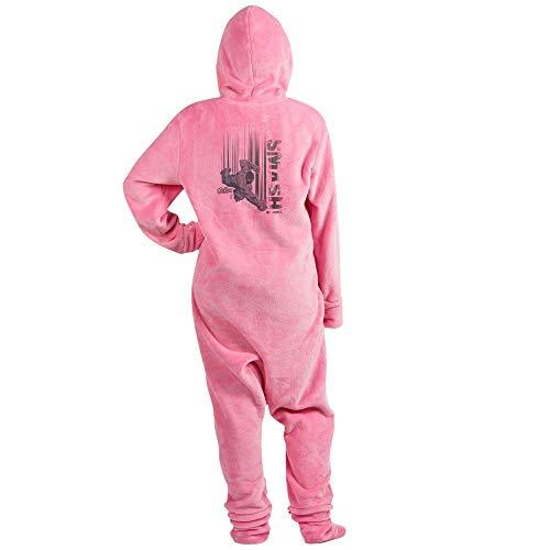 CafePress Avengers Hulk Smash Novelty Footed Pajamas, Funny Adult One-Piece PJ Sleepwear Pink -