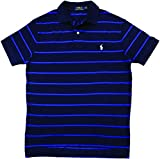 Polo Ralph Lauren Men's Classic-Fit Striped Polo, Navy/Royal, X-Large