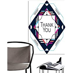 ARTS PaintingThank you greeting card thanksgiving design Abstract geometric elements Layout template card invitation brochure flyer cover Elegant frame and geometrical linear pattern background desi