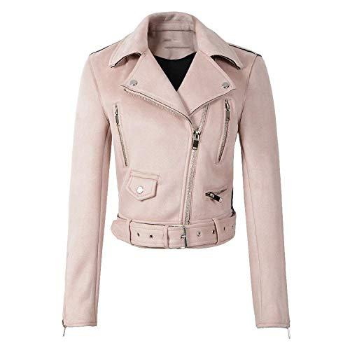 Éclair Doux Rose Veste Vert Punk Manteaux Fermeture Dame Conception Noire À Faux Daim Cuir En Pink Femmes Manteau Moto ZqpOw