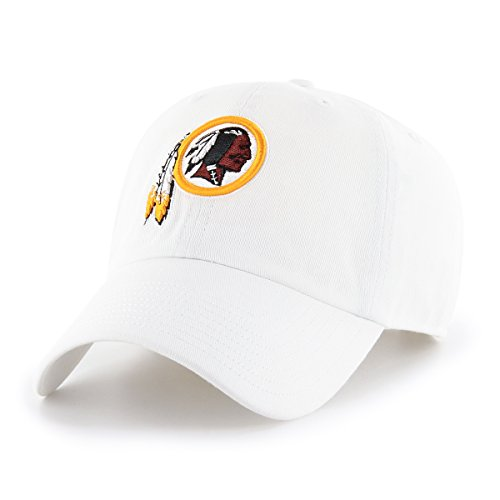 OTS NFL Washington Redskins Men's Challenger Adjustable Hat, White, One Size (Washington Nationals Green Hat)