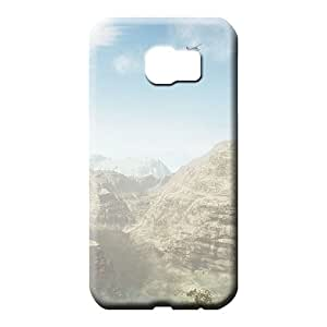 samsung galaxy s6 cell phone carrying skins PC covers protection Snap On Hard Cases Covers sky blue air white cloud