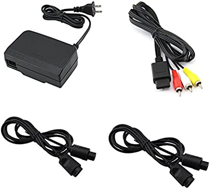 Amazon.com: N64 Ac Power Supply / Av Adapter / 2 6FT Controller Extension Cords: Video Games