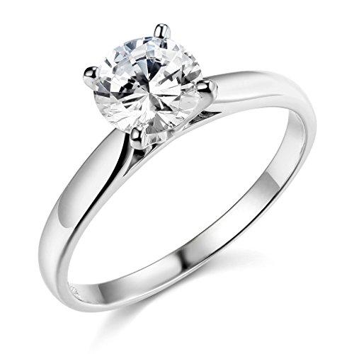 925 sterling silver rhodium plated wedding engagement. Black Bedroom Furniture Sets. Home Design Ideas