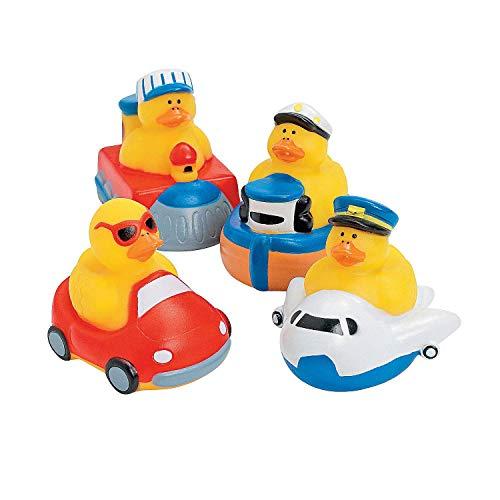 One Dozen (12 pc) Transportation Rubber Ducks
