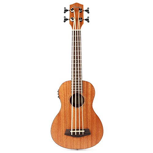 Donner DUB-1 30 inch Electric Bass Ukulele Mahogany Body with Case by Donner (Image #5)