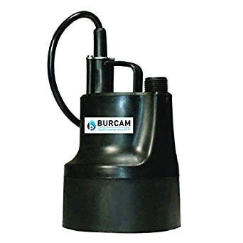 Amazon Com Bur Cam 300506bps Utility Submersible Pump No Switch 1 6 Hp 115v Industrial Scientific