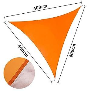 ENCOFT Voiles d'Ombrage Triangulaire Imperméable, Toile Solaire en Oxford Une Protection des Rayons UV, Voile Pare…