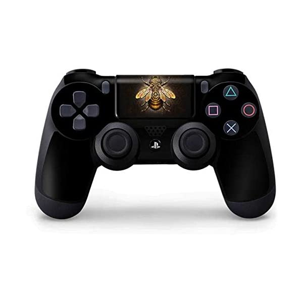 Skinit Decal Gaming Skin for PS4 Controller - Officially Licensed Tate and Co. Steampunk Bee Design 3