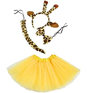81a1e0c8ce0 Lizzy Ladies ANIMAL FANCY DRESS TUTU with EARS BOW TAIL SET for Halloween
