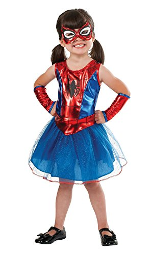 Spider Girl Deluxe Costumes (Spidergirl Dress Deluxe Toddler Costume)
