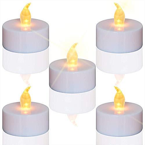 TEECOO24 unidades LED Velas Velas CR2032 pilas velas sin llama,LED Velas,LED Velas de te,Velas LED Sin Llama con Baterias para Navidad,Restaurante,Cumpleanos,Bar, Decora