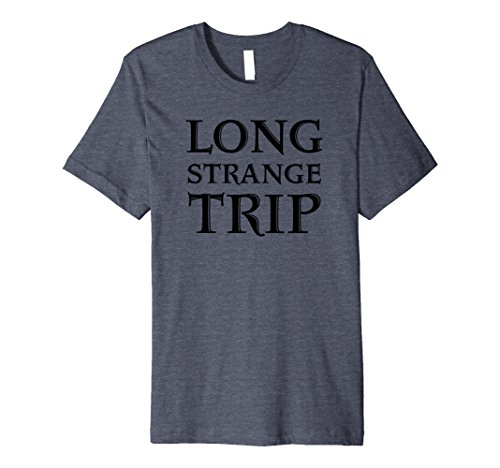 Mens Grateful Dead Long Strange Trip T-Shirt 2XL Heather Blue