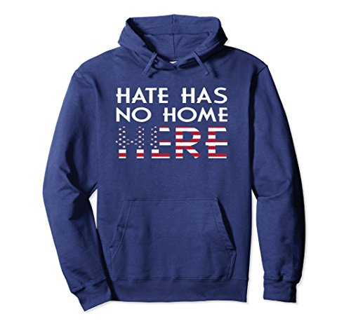 Unisex Hate Has No Home Here Hoodie - Social Justice Hoodie 2XL Navy Justice Sweatshirt