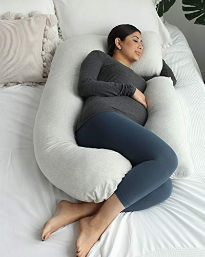 PharMeDoc Pregnancy Pillow, U-Shape Full Body Pillow and Maternity Support with Detachable Extension - Support for Back, Hips, Legs, Belly for Pregnant Women by PharMeDoc (Image #1)