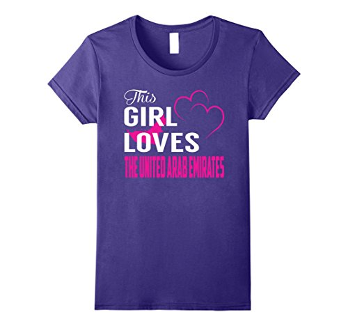 Womens This Girl Loves The United Arab Emirates TShirt Large (Arab Woman Outfit)