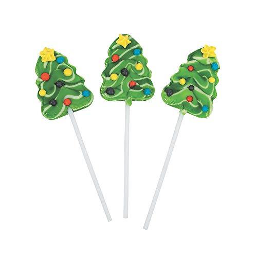 Christmas Tree Swirl Pops, 12ct
