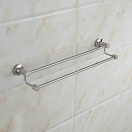 cheap Hiendure Modern 304 Stinaless Steel 24-Inch Double Towel Bar, Chrome