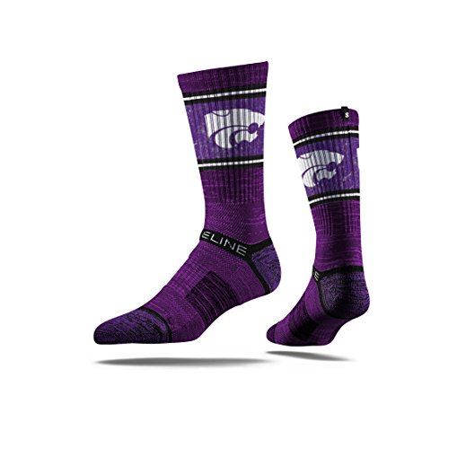 Strideline NCAA Kansas State Wildcats Premium Athletic Crew Socks, Purple, One Size (Kansas Wildcats State Socks)