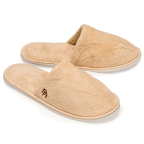 Nicely Neat 12pk Woodland Closed Toe Coral Fleece House and Travel Slipper (Large)
