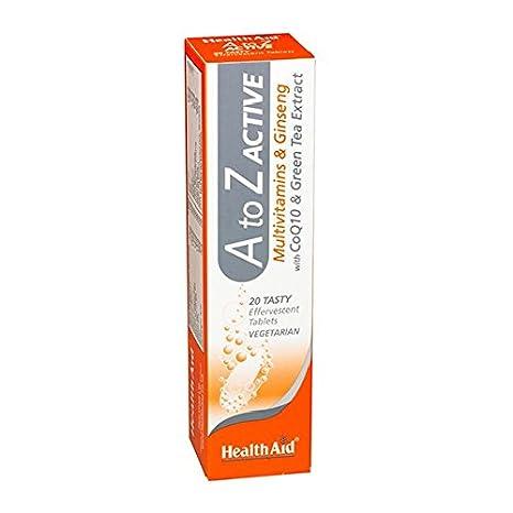 Multi A-Z Active 20 comprimidos efervescentes de Health Aid: Amazon.es: Salud y cuidado personal