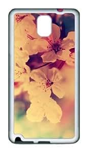 Samsung Galaxy Note 3 N9000 Case,Samsung Galaxy Note 3 N9000 Cases - Fuzzy Flowers Red White TPU Custom Samsung...
