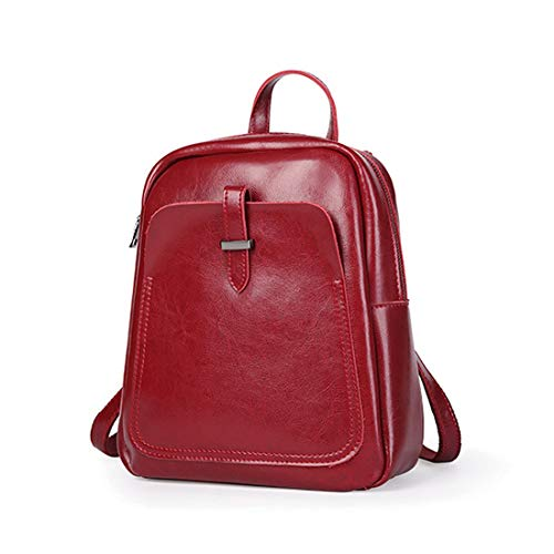 Bag nero Fashion signore La colore per Houyazhan Women le Spalla Vino rosso Leather Zaino Pu qRTnFp