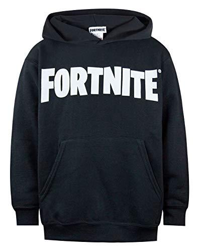 Fortnite Logo Boys Black Hoodie (7-8 Years)