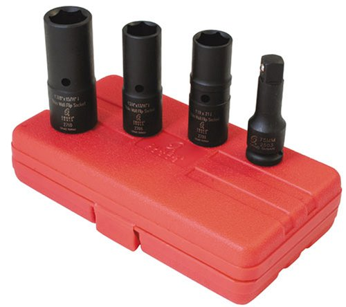 Sunex 2724 1/2-Inch Drive Deep Thin Wall Flip Socket Set, - Deep Socket Thin Wall
