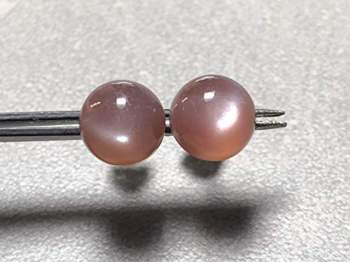 9mm Chocolate Moonstone and sterling silver post earrings
