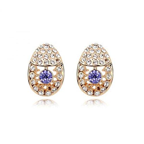 JuliesDeal Korean version of the New Retro luxury fashion diamond crystal earrings earrings small fragrant, beautiful life