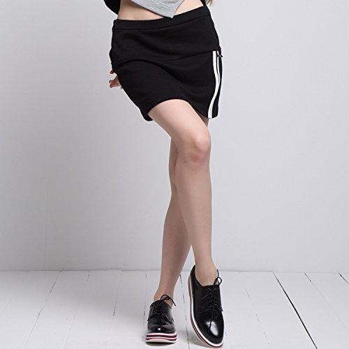 YLSZ-College style, new style skirt, new knit,black,L