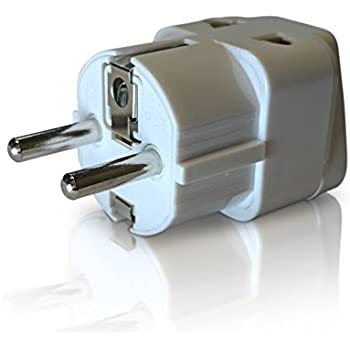 Amazon ceptics grounded universal plug adapter for europe 2 in 1 europe travel adapter for european outlets type c type e type f europe plug adapter works in france spain germany netherlands belgium asfbconference2016 Gallery