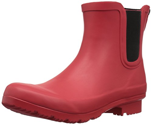Roma Women's Rain Chelsea Matte Boots Red 7f7HR
