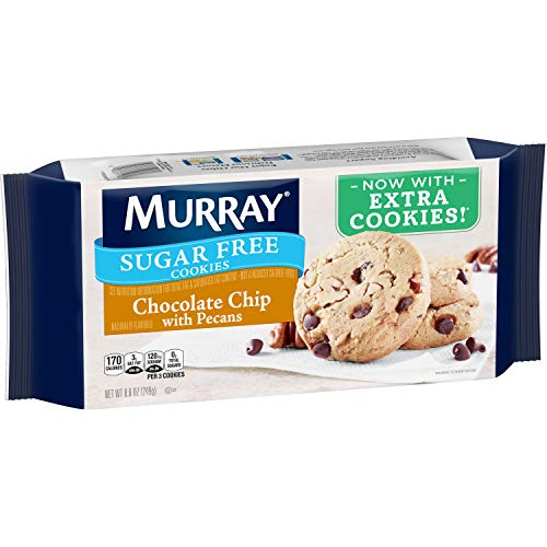 Murray Sugar Free Cookies, Chocolate Chip with Pecans, 8.8 oz Tray -