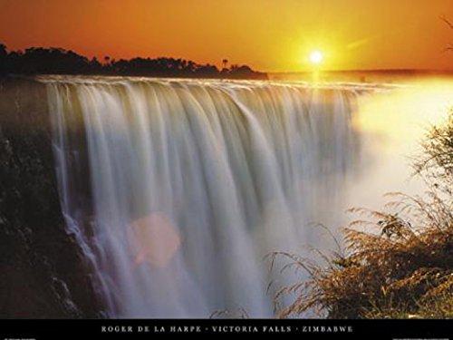 - 1art1 Posters: Waterfalls Poster Art Print - Victoria Falls, Zimbabwe (20 x 16 inches)